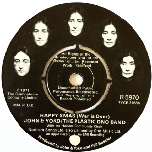 "John Lennon/Yoko Ono & The Plastic Ono Band ‎- Happy Xmas (War Is Over) (7"") (VG/EX)"